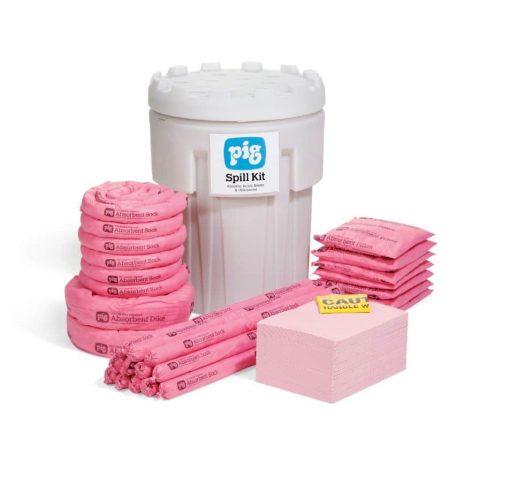 Bộ Kit xử lý hóa chất tràn NewPig 302 - Khả năng thấm hút hóa chất 237L